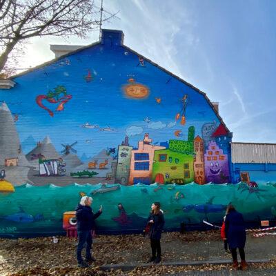 Muurschildering Esdoornstraat