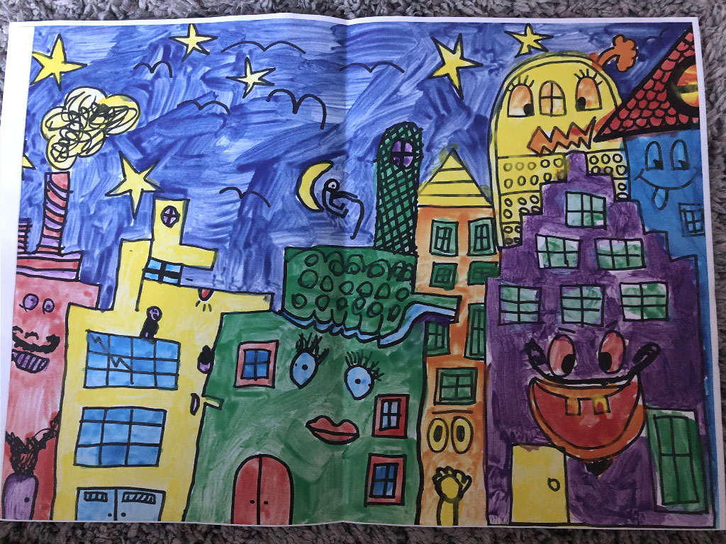 Muurschildering Esdoornstraat tekening1