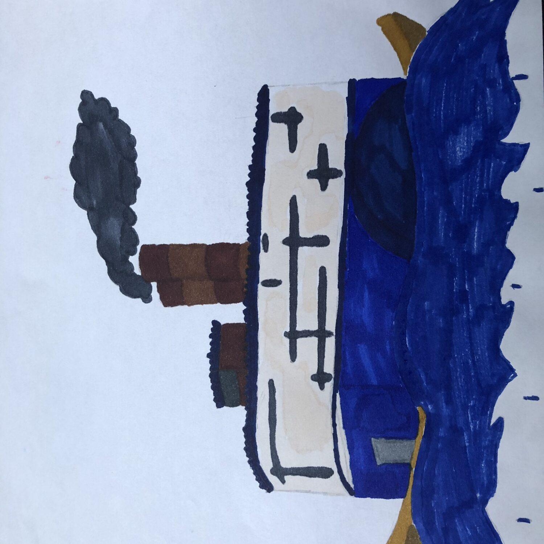 Muurschildering Esdoornstraat tekening2