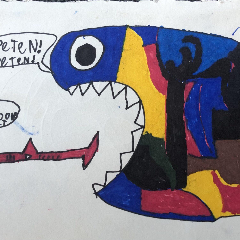 Muurschildering Esdoornstraat tekening3